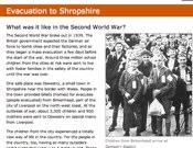Evacuation To Shropshire