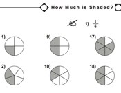 math worksheet : maths  key stage 1  fractions decimals : Shaded Fractions Worksheet