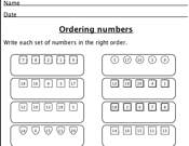 math worksheet : maths  key stage 1  ordering : Maths Key Stage 1 Worksheets