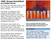 1666: Houses Demolished