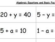 Basic Equations Worksheets