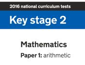 2016 KS2 Arithmetic