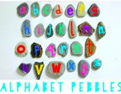 DIY Alphabet Pebbles