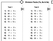 maths  key stage   division division worksheets printable