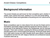 Ancient Greece Competitions