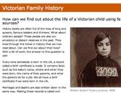 Victorian Family History