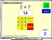 Tables Countdown IWB Game