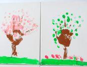 Seasonal Tree Canvases