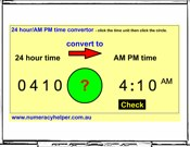 AM/PM And 24 Hour Time Converter